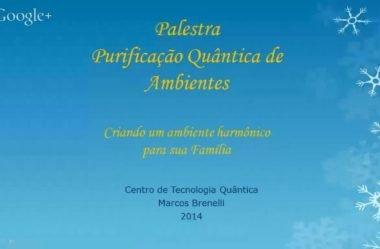 Palestra Online Purificação de Ambiente